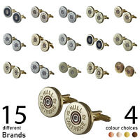 12G Slim Shotgun Shell Cartridge Cufflinks, Christmas, Birthday, Wedding Gift