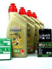 Castrol Power 1 10w40 4l ACEITE PARA MOTOS + Filtro de aceite HIFLO HF204 YAMAHA