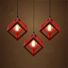 Red Pendant Light Bar Antique Chandelier Lighting Kitchen Lamp Ceiling Lights