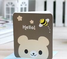 Gift Card Creative Blessing Card Baby Bear Hello COMPLIMENT. SERVICE or MIN. 5