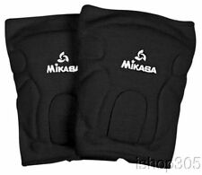 MIKASA 832-SR Advanced Adult Volleyball Basketball Knee Pads Antimicobrial Black