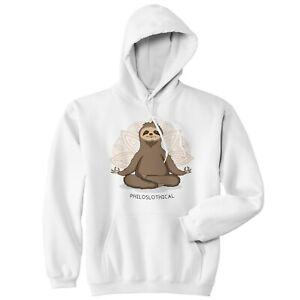 Philoslothical Hoodie Hoody Funny Gift Sloth Hot Yoga Pilates Meditation