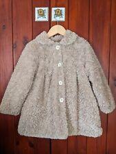 Girls Brown Beige Teddy Bear Coat Age 3-4 from Sulfy Spain BNWOT Want Winter Fur