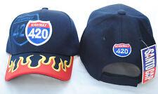 Highway 420 Flaming Bill Baseball Cap, Adult, Unisex fit