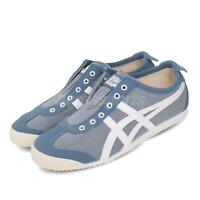 Asics Mexico66 Slip-On Grey Floss Blue White Men Women Casual Shoes 1183A580-401