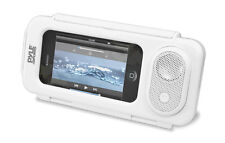 NEW Pyle PWPS63WT Waterproof iPod  iPhone4 Portable Speaker & Case (Color White)