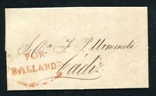 1855 Spain prephilatelic cover Cosari de Cadiz