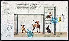 Canada 2636 on FDC Pets, Animals, Choose Adoption, Dog, Cat, Bird
