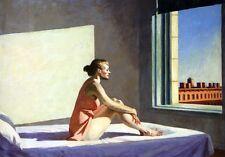 "Morning Sun by Edward Hopper, 8""x11.5"", Giclee Canvas Print"