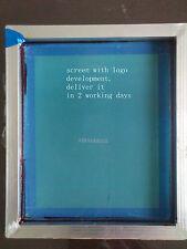 Make printing screen with aluminium frame, mesh, logo/image/text development