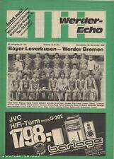 PRG   1.BL   82/83  WERDER BREMEN - BAYER 04 LEVERKUSEN