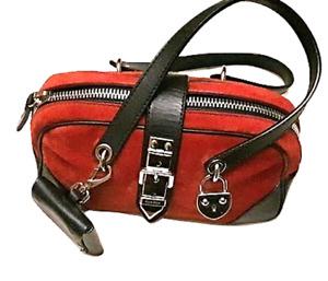 Authentic MIU MIU Mini Red Suede/Leather Hand Bag