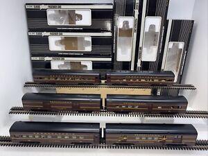 "K-Line K4680 PRR ""Spirit of St.Louis"" 6-Car Aluminum Passenger Set O Gauge Used"
