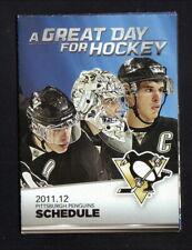 Pittsburgh Penguins--Crosby--Malkin-Fleury-2011-12 Pocket Schedule-Consol Energy
