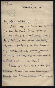 1924 Remarkable letter PRIME MINISTER Ramsay Macdonald, Russian Treaty , Ireland