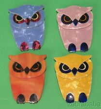 Lea Stein Owl Pin ONE ONLY  (Select Your Choice)