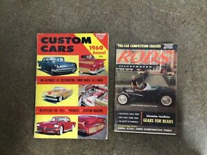 Lot of 2 magazines Rods Illustrated Feb 1959 Custom Cars 1960 Annual