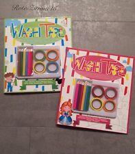 2x Malbuch Washi Tape Mandala Malen Schultüte Stift Malen Ostern Geschenk Buch
