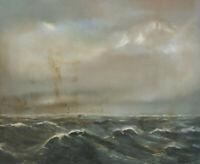 Signiert Schumann - Wellen und Wolken Meer See