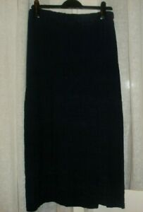 Shirin Guild Linen Skirt Navy Blue Skirt size UK 12 VGC