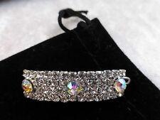 Impresionante Diamante de imitación de cristales Rectangular Con Forma De Pinza de pelo y libre Bolsa De Regalo