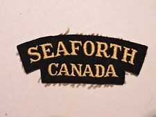 INSIGNE BADGE COMMONWEALTH SEAFORTH CANADA