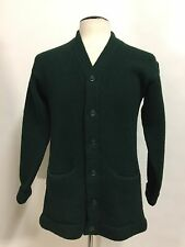 VINTAGE 1940s 1950s PRINCETON AWARD LETTERMAN COLLEGIATE SWEATER GREEN CARDIGAN