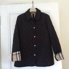 Women Classic 100% Authentic Burberry BRIT Black Quilted Jacket size XS / 36