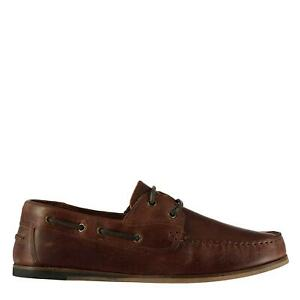 Firetrap Avisos Boat Shoes Mens Gents Laces Fastened Leather Upper