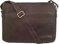 "UNICORN Real Leather 16.4"" Laptop Netbook Ultrabook Messenger Bag - Brown #2L"