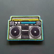 "Boom Box Patch - 3""x 2"" with hook and loop backing"