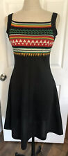 Vintage 60s Knit Sweater Jumper Pinafore Dress Pendleton Style Boho Rustic Hippy