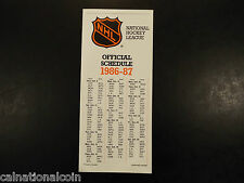 1986-87 NHL Official schedule