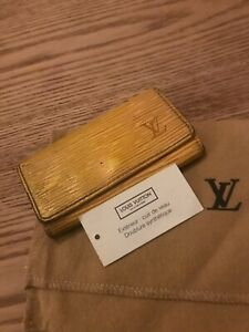 Louis Vuitton Key case Key holder Epi, Yellow