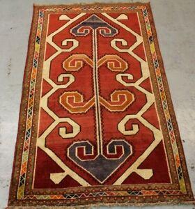OId Handmade traditional wool Parsian  Qashqai Rug 214cm x 124cm
