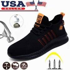 Mens Lightweight Safety Shoes Trainers Steel Toe Work Boots Hiking Sneakers US