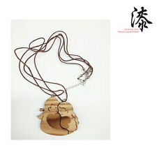 Korean Handcraft ChunHyang MongYong Love Story Lacquer Wood Couple Necklace Set