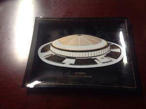 ULTRA RARE 1960's Houston Astros Astrodome Square Smoked Glass Dish.  See Pics
