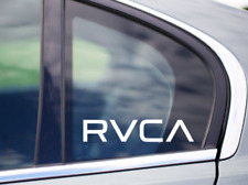 2x RVCA Surfing Skating Snowboarding Vehicle Windshield Laptop Sticker Decal