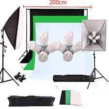 Fotostudio Set fotostudio Hintergrund mit 8pcs 135W Studioleuchte Softbox Set DE