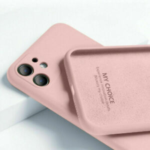 Liquid Silicone Case For iPhone 13 12 11 Pro Max 8 7 XR XS X SE Back Phone Cover