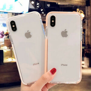 Clear Shockproof Bumper Silicone Soft Case Cover For i Phone XS Max XR 7 8 Plus