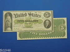 Reproduction $5 1861 Greenback US Paper Money Currency Copy
