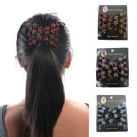 Double Slide Women Magic Hair Comb Clip Beaded Stick Barrette African Butterfly