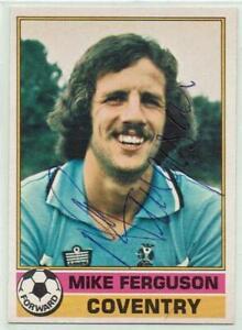 Mike Ferguson signed 1977 / 1978 Topps Red Backs card #121 Coventry City