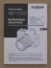 OLYMPUS E-420 Bedienungsanleitung E420 Handbuch Gebrauchsanleitung