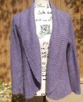 CHICO's | Light Purple Open Cardigan Sweater Shawl Collar Mohair Blend Size 1