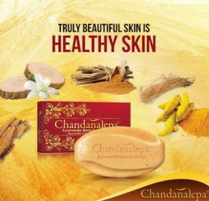 Chandanalepa Ayurveda Bar Soap Body Wash Healthy glowing & whitening Skin-100g