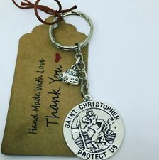 New driver Keyring, St Christopher & car, driving test, protection talisman