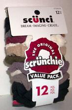 Lot 12 Colors SCUNCI Original Hair Scrunchie Pony Tail Holder Honey Comb Twister